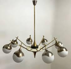 Globes For Chandelier Brass And Aluminum Italian Globe Chandelier