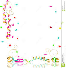 falling streamers and confetti stock photography image 34167692