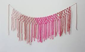 colorful diy macrame yarn garland for decor shelterness