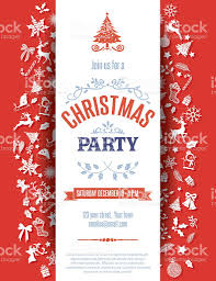 Sample Invitation Card For Christmas Party Red Christmas Party Invitation Template Stock Vector Art 494590790