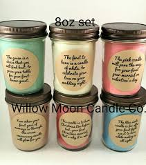Bridal Shower Gift Poems Wedding Or Bridal Shower Candle Gift Set Christmas Version Soy