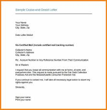 11 cease and desist letter example resume reference