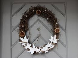 make your own thanksgiving door wreath diy