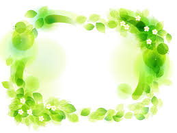 green floral frame powerpoint template ppt backgrounds green