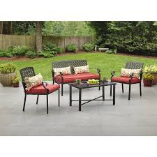 Walmart Patio Conversation Sets Alexandria Crossing 4 Piece Outdoor Conversation Set Seats 4
