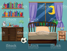 bedroom scene with books and toys stock vector art 820526810 istock bedroom scene with books and toys royalty free stock vector art