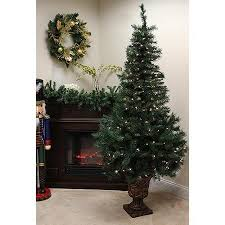 pre lit potted tree buy pack of 2 pre lit potted