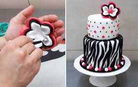 zebra cake how to cake decorating by cakes stepbystep youtube