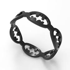batman wedding rings batman wedding band black gold or silver