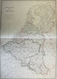 Map Of Holland Map Of Holland And Belgium 1860