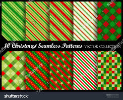 christmas background pattern collection red green stock vector