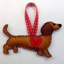 ornament felt ornament mitzi the dachshund not