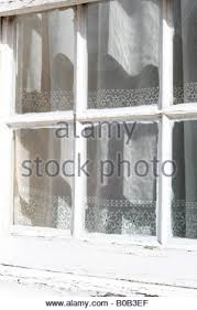 Curtains Inside Window Frame Window With White Frame U0026 Lace Curtain Surrounded By Climbing
