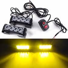 led strobe lights for motorcycles 8 led strobe flash fog light 12v car truck motorcycle led warning