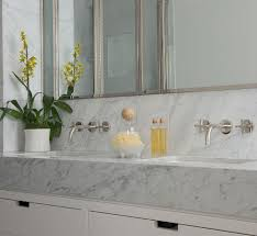 contemporary new york apartment with chic midcentury vibe view gallery renovated bathroom with stone vanity