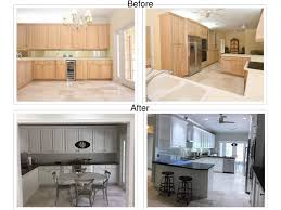 Kitchen Cabinets Before And After Painting Cabinet Refinishing Jaworski Painting