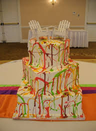 wedding cakes wi wedding cakes splatter cake tamara s cakes oshkosh wi