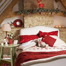 red and white christmas bedroom theme