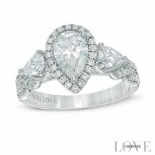 oval shaped engagement rings pear wedding zales