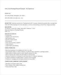 Corporate Paralegal Resume Sample 9 Paralegal Resumes Free Sample Example Format Free