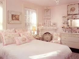 chambre shabby chic shabby chic pink bedroom with chandelier cabinet and mirror