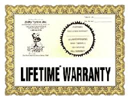 the b dry system lifetime warranty