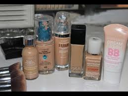 light coverage foundation for oily skin my top drugstore foundations for acne oily skin youtube