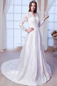 robe de mariã e manche longue dentelle robe de mariée vintage dentelle manches longues col en v satin