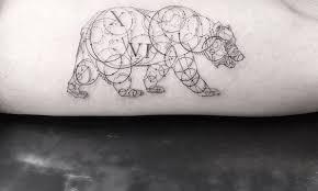 geometric fine line tattoos by la u0027s famous dr woo