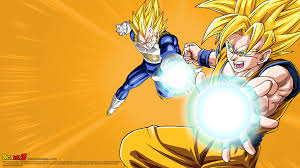 dragon ball moving wallpaper goku and vegeta kamehameha