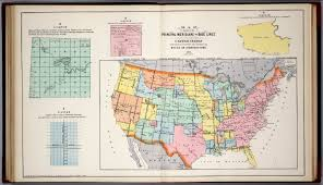 Detailed World Map Standard Time by Principal Meridians And Base Lines In The United States Standard