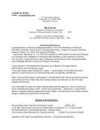 Sample Resume For Occupational Therapist by Athletic Resume Template Sample Basic Resume Template