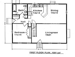 Saltbox Colonial First Floor Plan Of Colonial Saltbox House Plan 94007 House