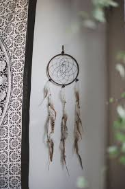 minimalist large dreamcatcher tumblr unique handmade home large feather dreamcatcher crystal webbed long home decor brown vegan leather tumblr hippie hipster bohemian