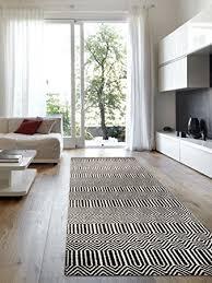 läufer für küche benuta teppich läufer sloan wolle baumwolle schwarz weiß 80
