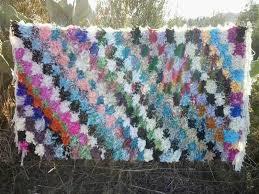 colored boucherouite rug fair trade morocco anou