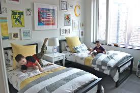 Kids Bedroom White Shared Boys Bedroom With Wall Decor Ideas - Boys shared bedroom ideas