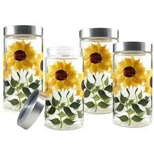 sunflower kitchen canisters 940 best canister sets images on vintage canisters