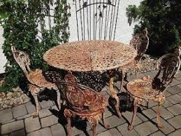 Iron Table And Chairs Patio Cast Iron Patio Tables Foter
