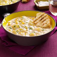 corn recipes for thanksgiving quick potato corn chowder recipe taste of home