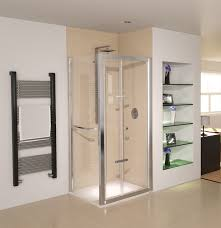 900 Bifold Shower Door by Aqua 8 Glide Bifold Door Polished Silver 900mm Fen1240aqu