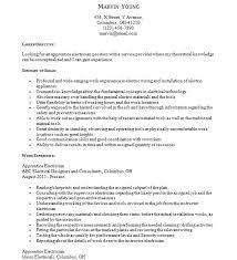 electrician apprentice resume automotive mechanic resume example