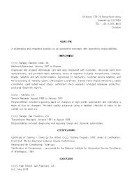 automotive technician resume exles resume of technician automotive technician resume impressive auto