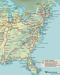 amtrak map usa amtrak map map