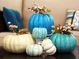pretty painted pumpkin centerpiece hgtv