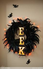 halloween in lights eek wreath u2013 heidi swapp