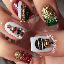 15 christmas glitter acrylic nail art designs 2016 xmas nails
