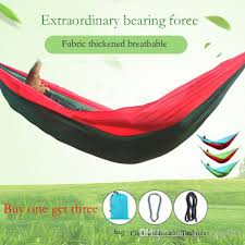 2018 double person multicolor parachute hammock swings outdoor