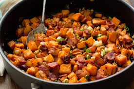 favorite thanksgiving food cranberry walnut sweet potato hash diamond nuts