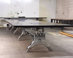 Industrial Boardroom Table Vintage French Industrial Conference Table Dining Table